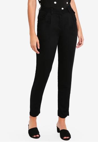 ICHI black Estim Pants 5BE50AAB3F6D1FGS_1