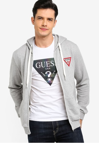 Guess 灰色 LOGO刺繡印花連帽外套 D9E70AA9281972GS_1