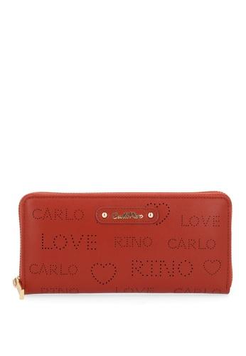 Carlo Rino brown Camel A Little Mischief Zip Wallet 56120AC8BCAD15GS_1