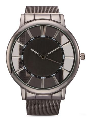 半透明esprit旗艦店錶盤網格帶圓錶, 錶類, 飾品配件