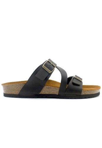 SoleSimple 黑色 Hamburg - 黑色 百搭/搭帶 軟木涼鞋 038EDSHAF752A4GS_1