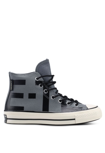 d76335a29466 Converse grey Chuck Taylor All Star 70 Gore-Tex Leather Hi Sneakers  311E3SH14FA7D1GS 1