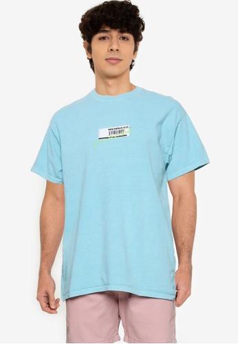 Mennace blue Breeze Receipt Regular T-shirt A7395AAC6CCFE5GS_1