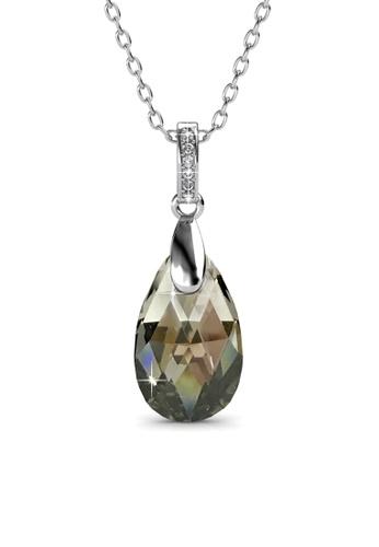 Her Jewellery grey Abyss Pendant (Grey) - Licensed Genuine Crystals from Swarovski® HE581AC0RVQBMY_1