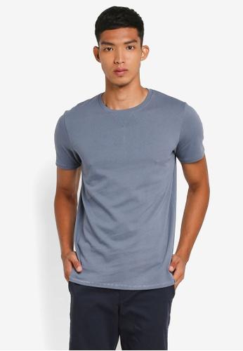 Selected Homme 藍色 Marcel Short Sleeve O-Neck Tee C5C9FAAB7DAB2AGS_1