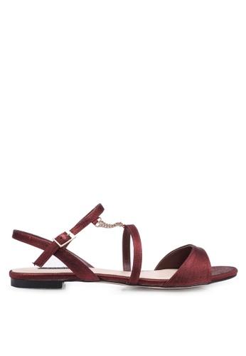 ZALORA red Chain Detail Sandal 67584SH21339F0GS_1