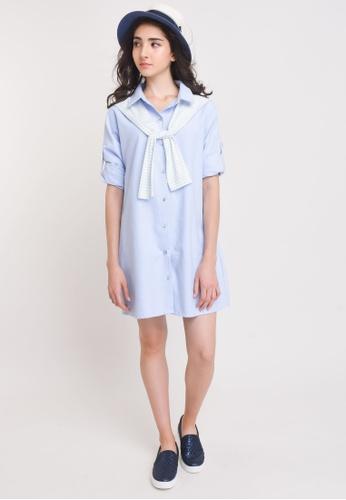 L'zzie blue LZZIE MOLARO DRESS - LIGHT BLUE DDDEEAA79D1B3AGS_1
