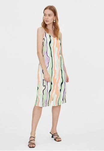 Pomelo green Midi Abstract Print Cami Dress - Green 7FC02AAA0B1CAEGS_1