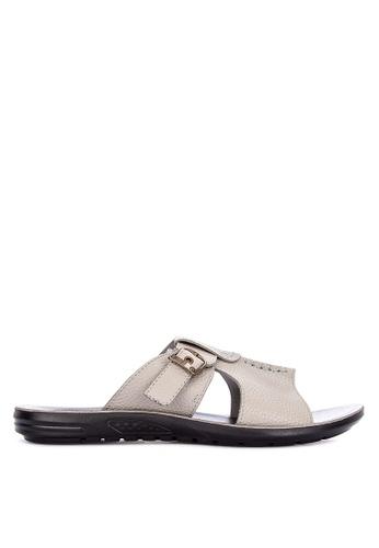 H2Ocean grey Abdul Sandals with Buckles 6D3E4SHB6AA1DDGS_1