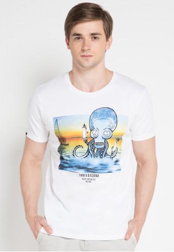 3SECOND white Men Tshirt 3S395AA0VUS3ID_1