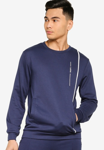 ZALORA ACTIVE navy Active Contrast Piping Jumper 208E7AAD88A8F0GS_1