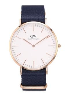 ec0081f749d9d Daniel Wellington gold Classic Bayswater White Watch 40mm 0F5ECAC661E100GS 1