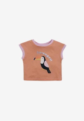 Gingersnaps orange Baby Girls Toucan Print T-Shirt 983B6KA2B9A97EGS_1