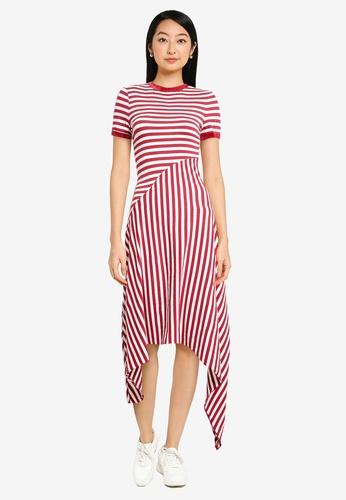 ZALORA BASICS multi Contrast Stripes Midi Dress 44620AAD3DD844GS_1