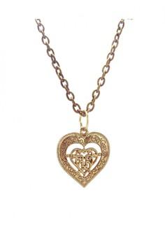 Vintage Heart Charm Pendant Necklace