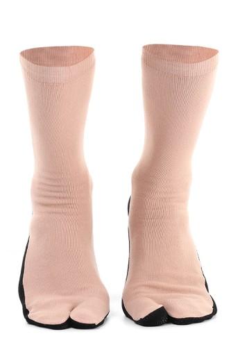Hamlin brown Hamlin Nercyla Kaos Kaki Wanita Toe Socks Two Tone Casual Footwear Material Spandex ORIGINAL 35F06AA648C221GS_1