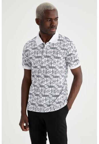 DeFacto white Short Sleeve Cotton Polo T-Shirt C3714AA1E33533GS_1