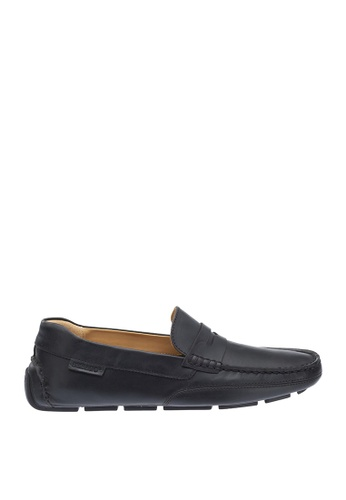 Sebago black Kedge Penny Driving Shoes 4AE62SHB660EB5GS_1