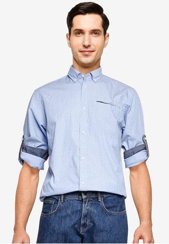 Jack & Jones blue Thomas Detail Shirt 38374AAC8360A4GS_1