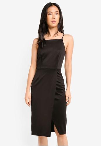 ZALORA black Wrap Skirt Pencil Dress E7921AA6592576GS_1