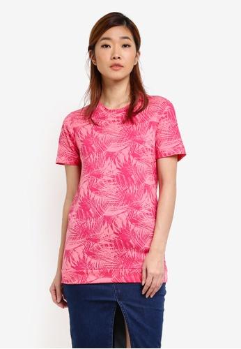UniqTee pink Printed Tee UN097AA0S22SMY_1
