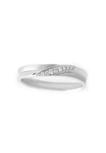GOLDHEART white GOLDHEART Ring, Diamond White Gold 375 & Palladium (ESP-R3057) BE250ACE81E19DGS_1