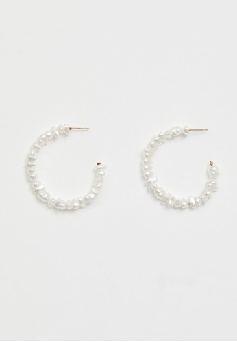 Love, Bonito white Raina Crystal Hoop Earrings 5565CACF3D44FEGS_1