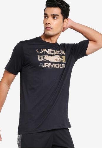 Under Armour 黑色 Stacked Logo Fill Tee FCDAFAA898391DGS_1