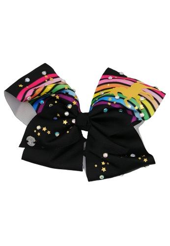 Jojo Siwa black Jojo Siwa Bow With Clip (Black Rainbow Unicorn) 4D455KCA61CA3AGS_1