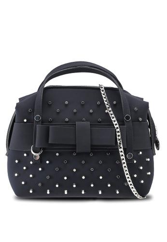 La Fille Des Fleurs black Sonia Studded Crossbody Bag 1CEDEAC744B45DGS_1