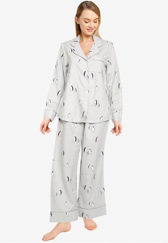 Banana Republic grey Pj Long Sleeve Flannel Set BB3CAAA4D3C4E8GS_1