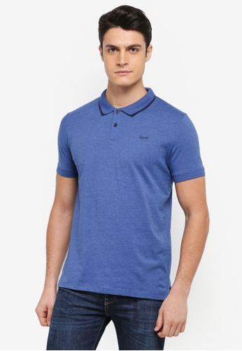 ESPRIT blue Short Sleeve Polo Shirt 08868AAADFD7E5GS_1
