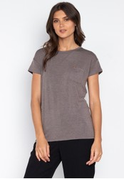 MEMO grey Relaxed Fit Pocket Tee E4E8BAA2F00E9EGS_1