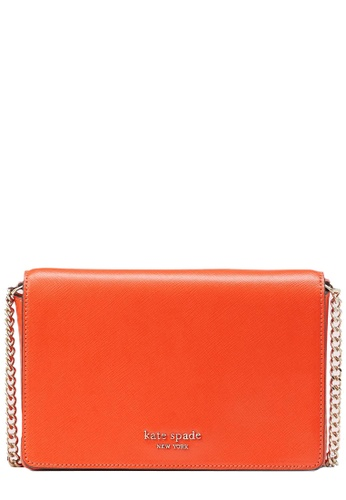 Kate Spade orange Kate Spade Spencer Chain Wallet Crossbody Bag in Tamarillo FE5E0AC3582EEAGS_1