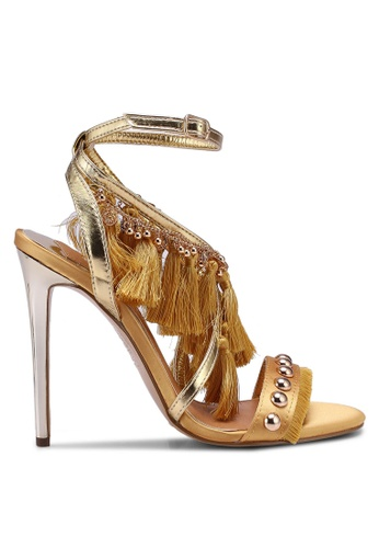 River Island yellow Whicker Jewellery Tassel Sandal F00FESH822EDCFGS_1