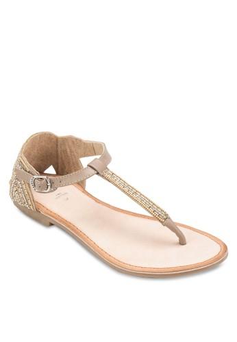 Vernot 閃飾夾趾平底涼鞋, 女鞋, esprit 台中鞋