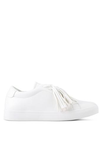 ZALORA white Tassel Sneakers 7F2C7SHFBAD025GS_1