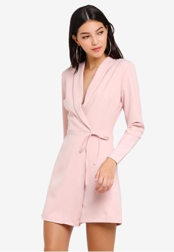 WALG pink Wrap Playsuit AC561AA9500DE3GS_1