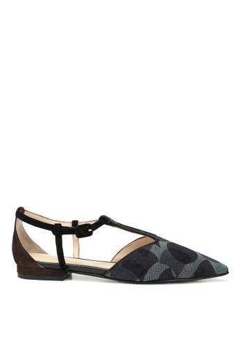 RABEANCO black RABEANCO MANI Sandals - Embossed Black 49556SHD0925E7GS_1