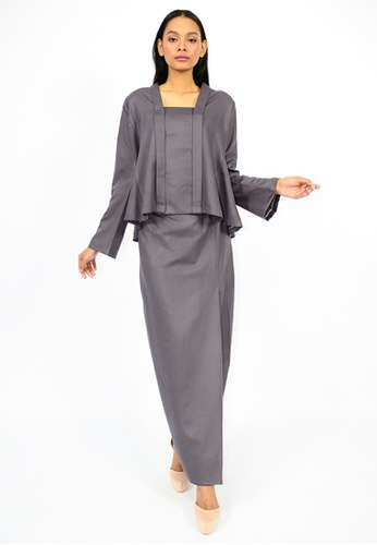 Kebaya Wadini from Watie Collections in Grey