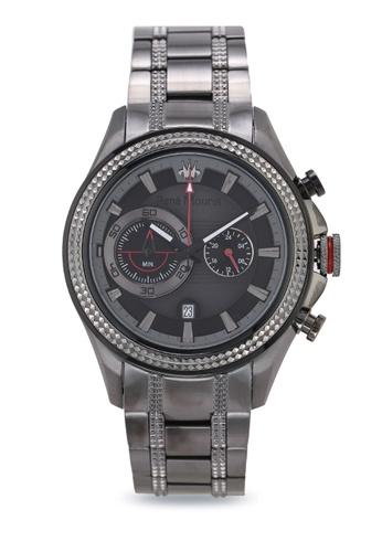 René Mouris silver Trofeo - 45mm Quartz Chronograph Watch B70A9AC77D0407GS_1