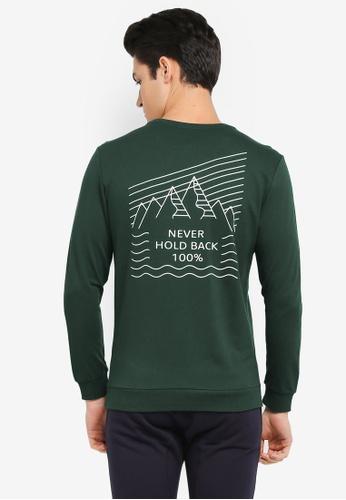 JAXON green Never Hold Back Sweatshirt 5CC6BAA0F34558GS_1