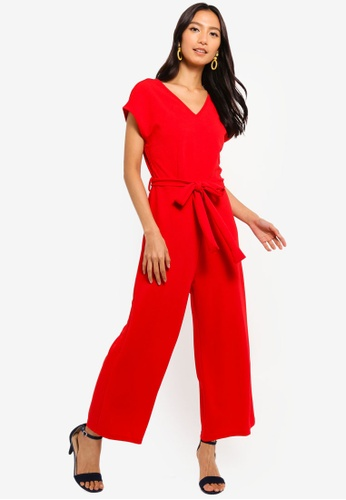 194e9e2c7b9 Shop Mela London Capped Sleeve Culotte Jumpsuit Online on ZALORA Philippines