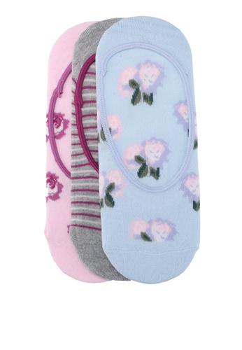 Dorothy Perkins multi Floral 3 Pack Footsie Socks 0B3F1AAFE3ED13GS_1