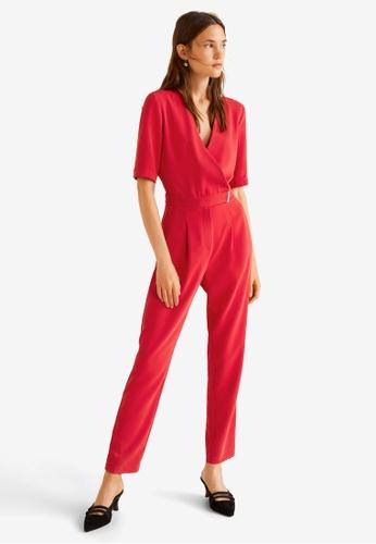 4f6f1bd6152 Buy Mango Wrap Long Jumpsuit Online on ZALORA Singapore