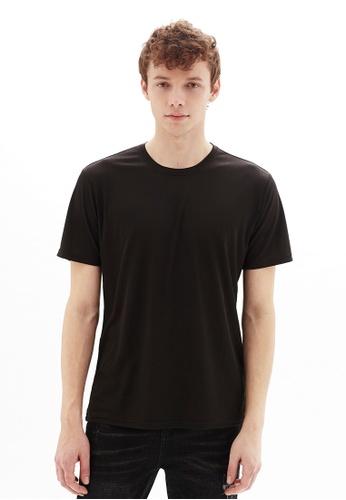Life8 black Casual U-Neck Short-Sleeved Tee -10084-Black 4E3DDAA4DDD70CGS_1