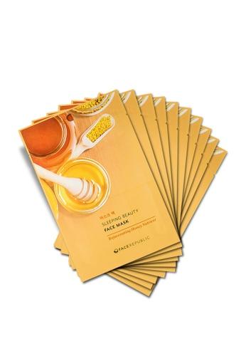 Face Republic Rejuvenating Honey Nutrient Face Mask 10pcs 070B9BEED4B6EBGS_1