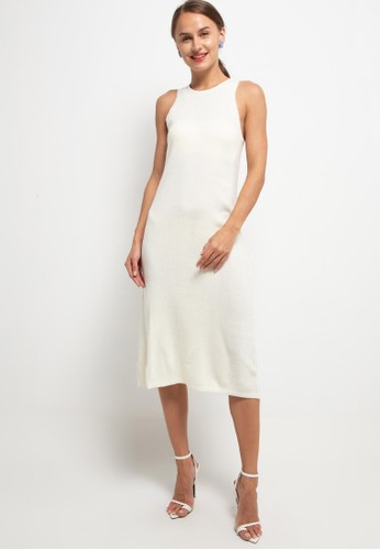 Noir Sur Blanc white Long dress sleeveless ED7CEAAE1AC388GS_1