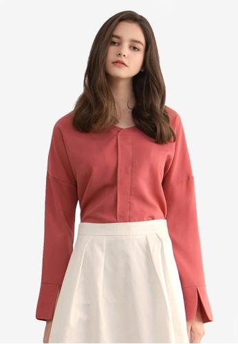 Kodz pink Minimalistic Blouse 537B8AAAEC2258GS_1