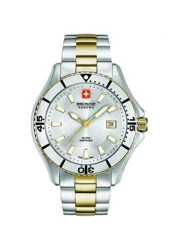 Swiss Military Hanowa silver and gold Nautila Gents Watch SM06-529655001 FBB78AC976244FGS_1
